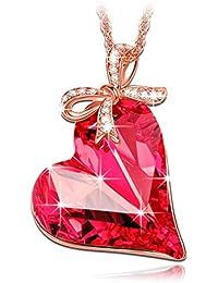 LADY COLOUR - Regalo del amor - Collar mujer con cristales de SWAROVSKI® - la coleccion Corazon de Cristal