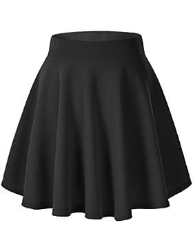 Gaatpot Falda Mujer Alto Cintura Corto Elástica Plisada Básica Falda Tutu Multifuncional Patinador Minifalda