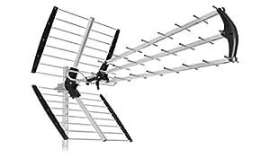 SH45/TU-ANTENNA 45 ELEMENTI /Lte 4G PER DIGITALE TERRESTRE UHF HD TV-PRONTA ALL'USO IN SOLI 5 SECONDI