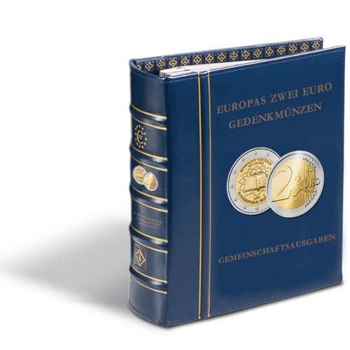 Leuchtturm 343382 2-Euro-Optima Vordruckalbum Gemeinschaftsausgaben | Z.B. 50 J. römische Verträge, 10 Jahre W. und W. Union, 10 J. Euro-Bargeld