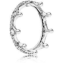 Pandora Women's Ring Verzau Plated Crown 197087CZ