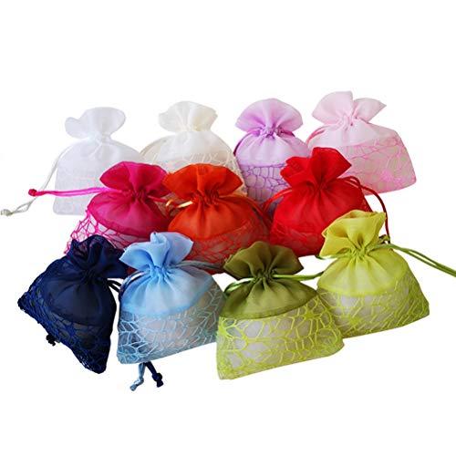 Vosarea 12 stücke Organza Taschen Mesh Kordelzug Geschenk Taschen Süßigkeiten Taschen Beutel Schmuck Taschen Party Taschen Lagerung Verpackung Taschen Hochzeit Favor