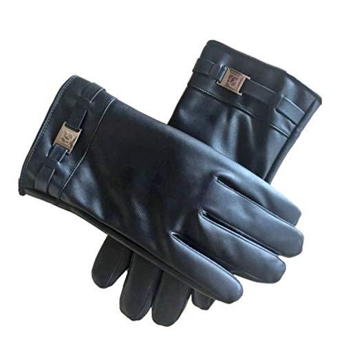 LIOOBO 1 Stück Winterhandschuhe Touchscreen verdicken langlebige Lederhandschuhe Schutzhandschuh Outdoor-Handschuh für Reisen Reiten Sport