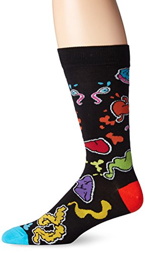K. Bell Socks Herren Socken Innards Crew Socken, schwarz, 38-47