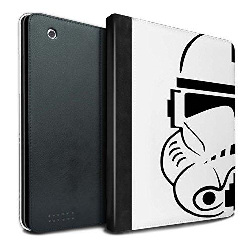 �lle/Case/Brieftasche für Apple iPad 2/3/4 Tablet/Soldat Klonen Muster/Angriffs Trooper Helm Kollektion ()