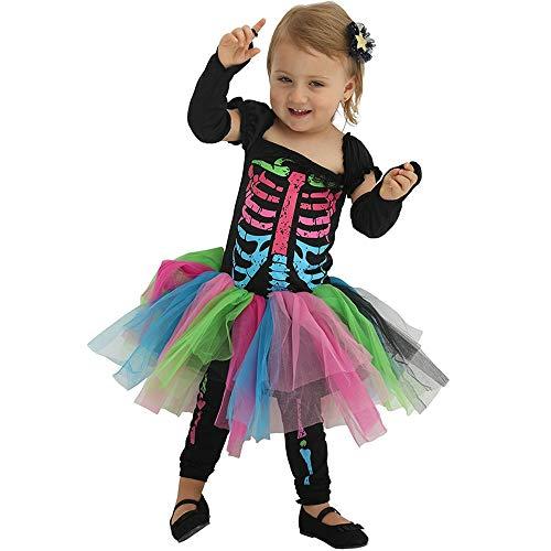 LHHJ Halloween Polyester Bunte Mädchen Kostüm Party Kostüm A S