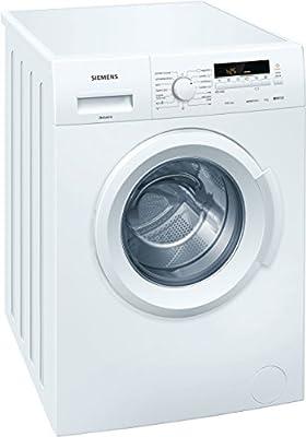 Siemens iQ100 Independiente Carga frontal 6kg 1400RPM A+++ Color blanco - Lavadora (Independiente, Carga frontal, A+++, B, B, Color blanco)