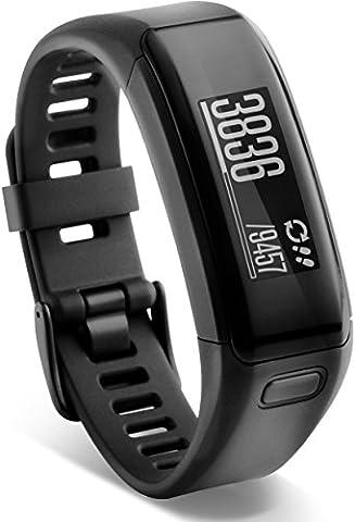 Garmin vívosmart HR Fitness-Tracker - integrierte Herzfrequenzmessung am Handgelenk, Smart Notifications, Schwarz, XL (18-22,4 cm)