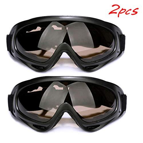 Pasanow Ski Snowboardbrillen, Skifahren Sonnenbrille UV-Schutz Skibrille Für Skifahren Motorrad-Fahrrad-Skating Für Männer, Frauen, Jugendliche, Helm Kompatibel, 2 Packungen,Braun