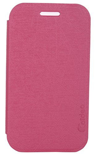 iCandy™ Soft TPU Non Slip Back Shell PU Leather Hybrid Flip Cover For Samsung Galaxy Star Advance G350E - PINK  available at amazon for Rs.195