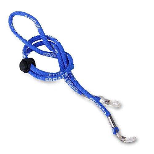 Ma-on Adulte Enfant réglable antidérapant Lettre Corde Lunettes de sport (Bleu)