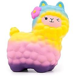 MMTX 17 CM Jumbo Schafe Alpaka Squishies 1 STÜCKE Super Soft Cut Tier Squishies Creme Duftenden Langsam Steigenden Squishy Stressabbau Spielzeug