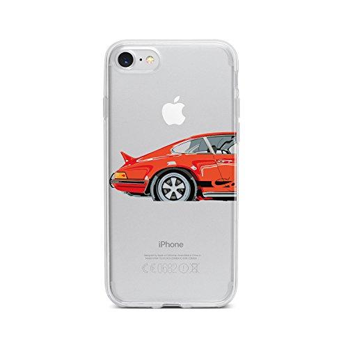 licaso Apple iPhone 8 Handyhülle Smartphone Apple Case aus TPU mit Roter Sportwagen Print Motiv Slim Design Transparent Cover Schutz Hülle Protector Soft Aufdruck Lustig Funny Druck -