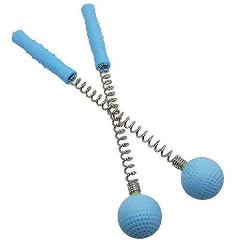 TOOGOO Massager Kugel Hammer (2 Pack) Hammer Stock Manueller Schlag Golf Ball Massager Rücken Schulter Massage Ganz K?rper Müdigkeits Schmerzen Reduzieren (Blau) (Golf Ball-bildschirm)
