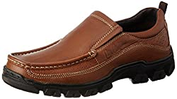 Lee Cooper Mens Tan Leather Loafers and Mocassins - 9 UK/India (43 EU)