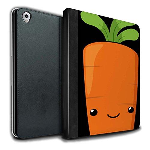 STUFF4 PU Pelle Custodia/Cover/Caso Libro per Apple iPad Pro 9.7 tablet / Carota / Cibo Kawaii disegno