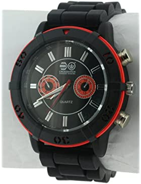 CROSSHATCH Herren-Armbanduhr Analog Silikon Schwarz CRS34/A