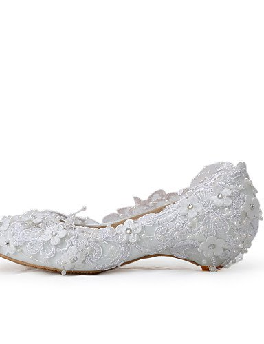 WSS 2016 Chaussures de mariage-Blanc-Mariage / Habillé / Soirée & Evénement-Compensées-Talons-Homme under 1in-us9 / eu40 / uk7 / cn41
