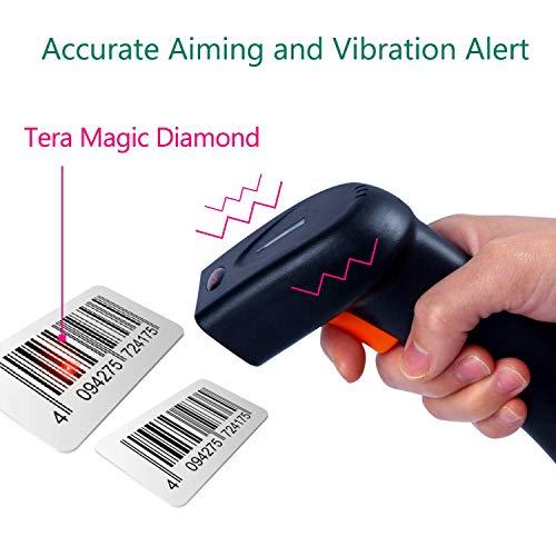 Tera Lecteur Code-barres 1D 2D QR Code Wireless Scanner Douchette de Code à Barres (2 en 1 sans fil et USB 2.0 câblé) pour Magasin, Supermarché, Entrepôt