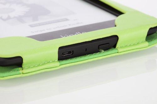 MoKo Etui Folio ultra fin pour Amazon Kindle Paperwhite (Convient à touts les versions: 2012, 2013 et 2015 New 300 PPI), NOIR (Avec couverture intelligente réveil/sommeil automatique) Vert