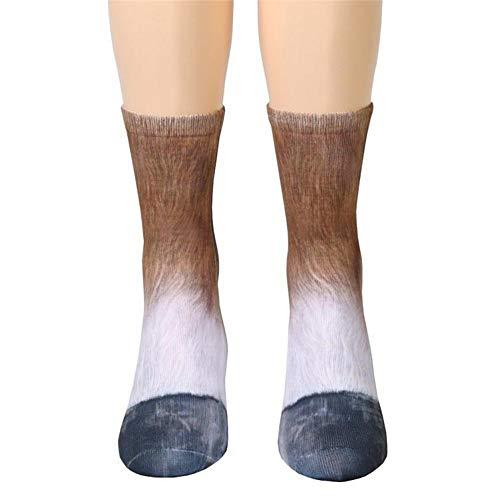 dressfan Niedliche Tier Socken Unisex Erwachsene Kinder 3D-Druck Tier Socke Paw Socken für Coslpay Kostüm (Mensch Und Pferd Kostüm)