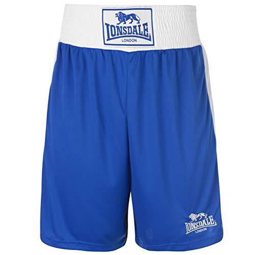 Lonsdale para Hombre Caja Corto Pantalones de Boxeo de Entrenamiento Sport Gimnasio Wear Azul Multicolor...