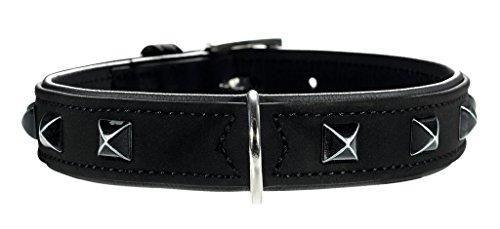 Artikelbild: Halsband Softie Kairo 65 nickel Kunstleder schwarz/Nappa schwarz