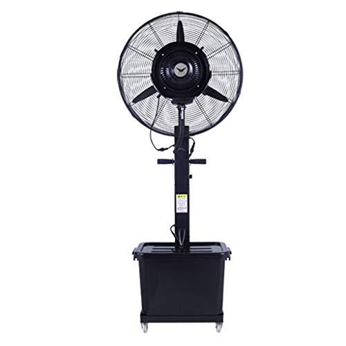 ZRN-Lüfter Lager Spray Fan Cooled High Power Metall Oszillierende Nebel Fan Kühlung Indoor/Outdoor Einstellbare Geschwindigkeit Wassertank Rad Luftumwälzpumpe (81 cm) 220V / 50Hz - Fan-lager Lüfter