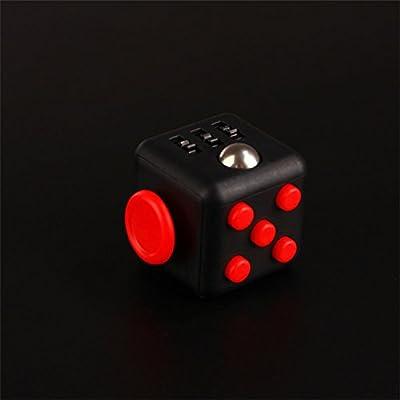 FidgetPro® De-Stress Fidget Cube - Red on Black. Warehoused and Shipped by Amazon UK
