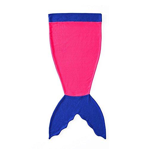 Pepeng Manta-saco cola de sirena para niños, cálida y suave, para usar en todas las estaciones del año, ideal como saco de dormir para el sofá y la cama, tamaño 142x50cm, color rosa