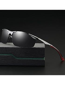 Z&HA Gafas De Sol Polarizadas Al-MG para Hombre Conduciendo Gafas De Sol Conductor Antideslumbrante HD Gafas Sin...