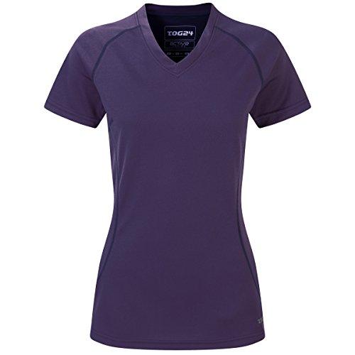 Purple Velvet Bluse (TOG 24 Zola Damen Tcz Tech T-Shirt Velvet Purple - Lila (Violett, EU 40))