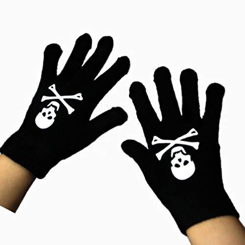 YanRong praktische Erwachsene Handschuhe Halloween Kostüm Totenkopf Skelett Finger Knochen für Zuhause Dekoration 1