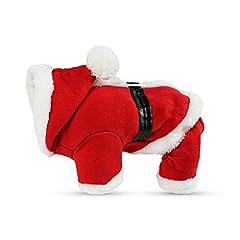 Idea Regalo - PETCUTE Animale Domestico Natale Costumi Cane Vestito con Cappello di Babbo Natale Cappello Felpa con Cappotto da Ginnastica in Autunno