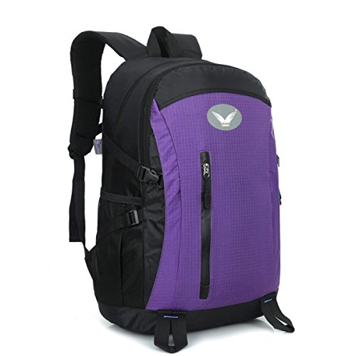 Im Freien Klettern Rucksack Nylon Reise Tasche Für Trekking Purple