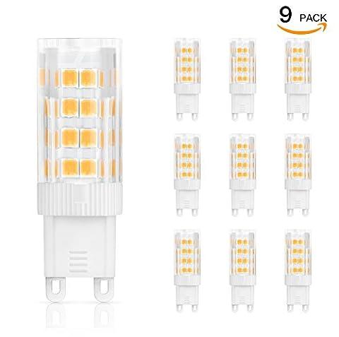 You and me G9 LED Lampen, Ersatz für 45W Halogen Lampen Warmweiß 2700K, 5W G9 LED Birnen 450lm AC220-240V, Globaler 360° Abstrahlwinkel, CRI >80, 9er
