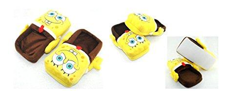 Spongebob Plüsch Slipper, Erwachsene Größe Passform bis 26,7cm -