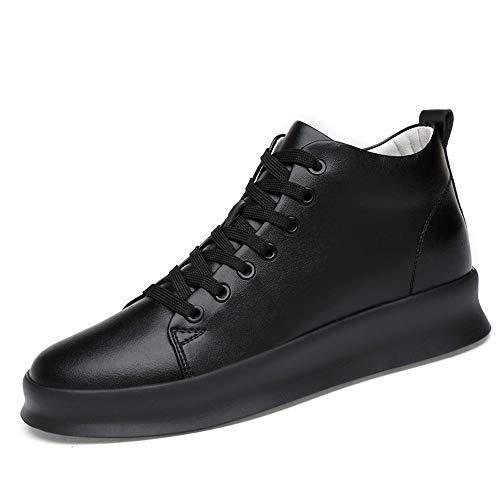 Sunny&Baby Scarpe da Skate per Uomo Sneakers Comfort Scarpe Antiscivolo per la Caviglia Scarpe a Punta arrotondate in Pelle PU Altezza Superiore Resistente in Altezza 8 cm Scarpe da Passeggio Lace-Up