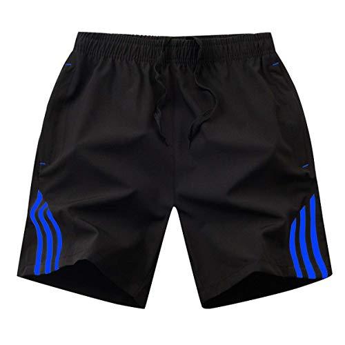 HOTSTREE Summer Mens Shorts Streetwear Men's Sportswear Casual Boardshort Man Short Masculino Side Stripe Bodybuilding Shorts Men 8XL Khaki 4XL - Short Sleeve Striped Khaki
