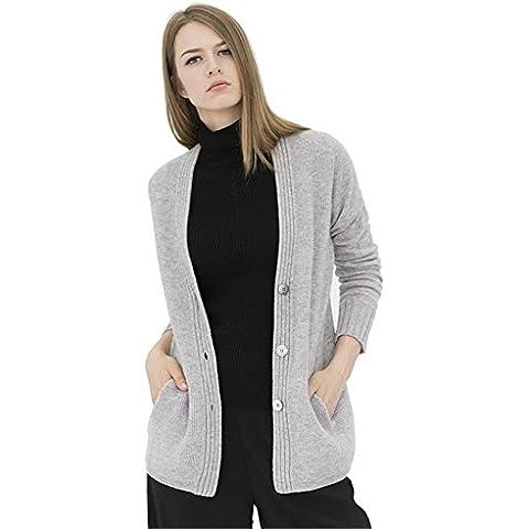 Coprispalle donna maglia corta Keep It Classico cardigan, Grey, L