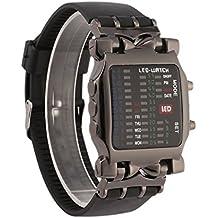 dfeea4c6b6f0 Multifuncional Popular Dial Cuadrado Uisex Binario LED Relojes Digitales  Banda de Goma Ocasional Deporte Reloj de