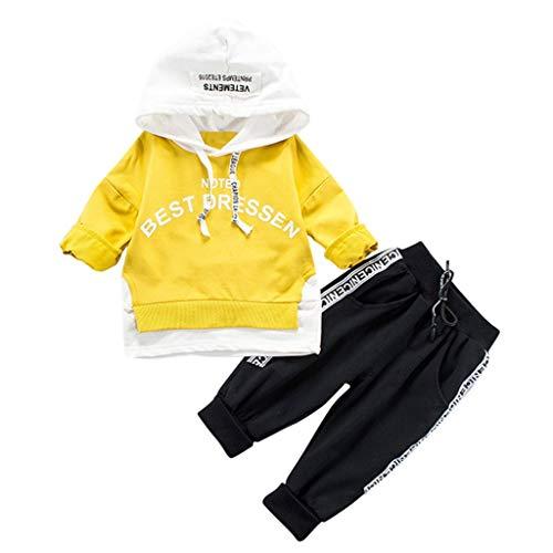 Dasongff Baby Trainingsanzug Babykleidung Junge Mädchen Kapuzenpullover Täglich Hose Mode Outfits Kleider Set