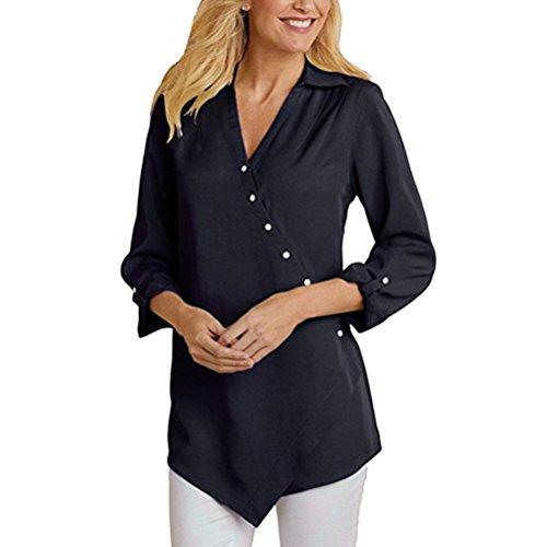 Abcone-donna pullover [s-xl] felpa  leggero solido con scollo a v t-shirt maniche lunghe elegante autunno camicette camicie casual tops