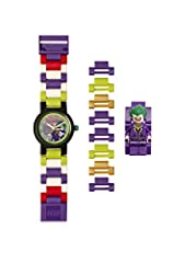 Idea Regalo - LEGO Batman Movie 8020851 Orologio da polso componibile per bambini con minifigure Joker