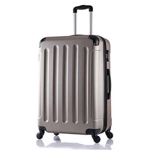 EUGAD #374 Reisekoffer Hartschale Koffer Trolley mit erweiterbare Volumen , Reise Koffer Trolley 4 Rollen , Hartschalenkoffer Handgepäck M/L/XL/Set , leicht...