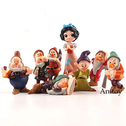 Schneewittchen und die Sieben Zwerge PVC Figuren Kinder Spielzeug Geschenke für Kinder 8 Teile/Satz (Erwachsene Sieben Und Schneewittchen Zwerge Die)