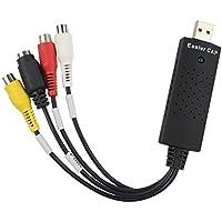 Republe8.8 x 2.8 x 1.8cm USB 2.0 TV DVD de VHS DVR USB adaptador de la captura compatibilidad con dispositivos de captura de vídeo para Win10