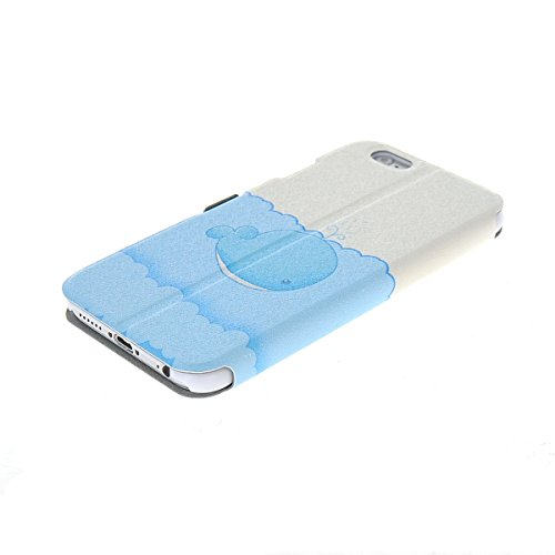 MOONCASE Coque en Cuir Housse de Protection Étui à rabat Case pour Apple iPhone 6 Plus A18131