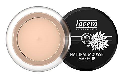 lavera Natural Mousse Makeup Foundation ∙ Farbe Ivory Hautfarbe ∙ matter Teint & cremige Textur ∙ Natural & innovative Make up ✔ vegan ✔ Bio Pflanzenwirkstoffe ✔ Naturkosmetik ✔ Teint Kosmetik 1er Pack (1 x 15 g)
