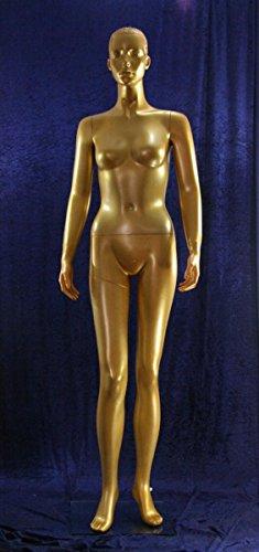 Qubeat Weibliche Schaufensterpuppe Gold
